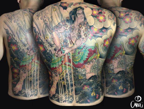 Samurai Espalda - Caroli Dilli - Tatuaje Japones