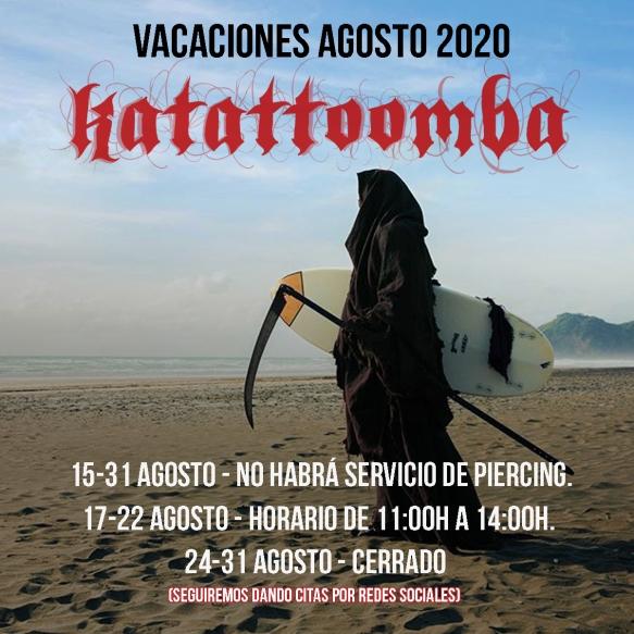 cartel katattoomba vacaciones 2020